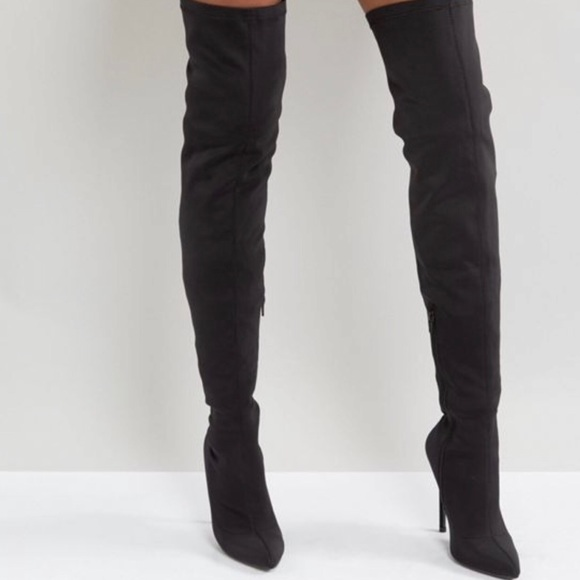 ed91c87eceb Truffle Collection stiletto thigh high boots